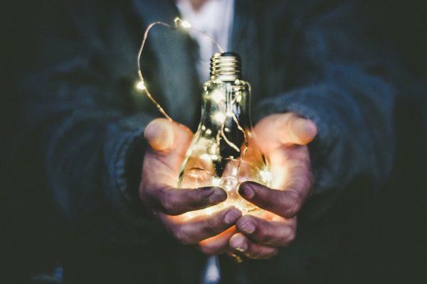 Bulb In Hands